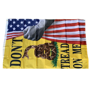 American Flag Don't Tread on Me Flag Revealed 3'x5' 68D Rough Tex® Flag