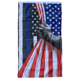American Flag Thin Blue Line Revealed 3'x5' 68D Rough Tex® Flag