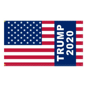 Trump 2020 American Flag with Sleeve 3'x5' 100D Rough Tex®