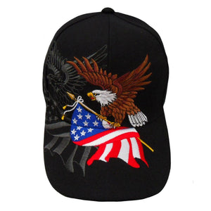 Black American Flying Eagle Custom Embroidered Shadow Hat
