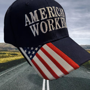 Premium American Worker Custom Embroidered Hat