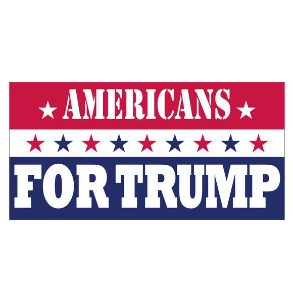 Americans for Trump Patriotic Weatherproof Bumper Sticker