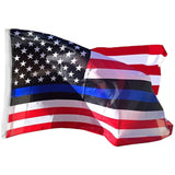 American with Thin Blue Line 3'x5' 100D Rough Tex® Flag