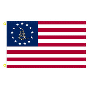 Betsy Ross Gadsden Snake 2'X3' 100D Rough Tex® Flag