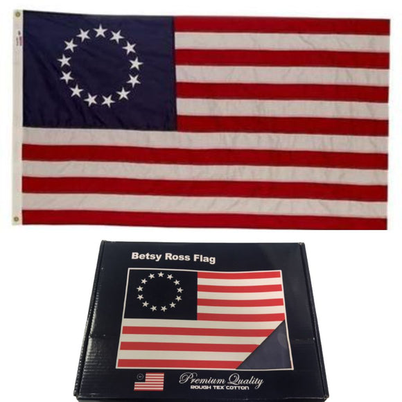 Historical Reproduction 13 Star Cotton Betsy Ross Rough Tex® 3'x5' Flag