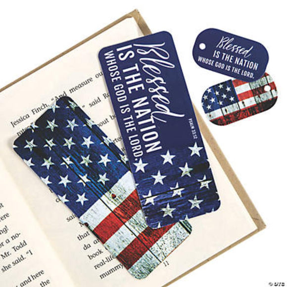 Blessed is the Nation Whose God is Lord Bookmark & Keychain Tag