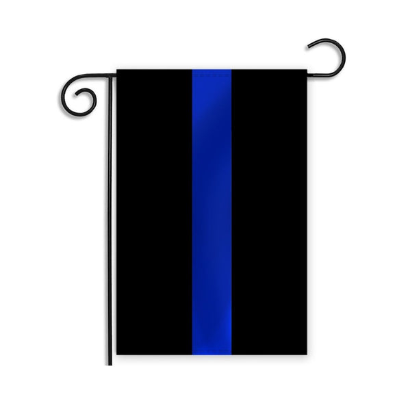 Blue Line Police Garden Flag by Rough Tex®