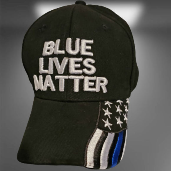 Premium Blue Lives Matter Custom Embroidered Hat and Bill