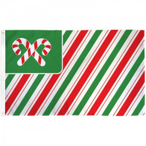 Candy Cane Striped 3'x5' 100D Rough Tex® Flag
