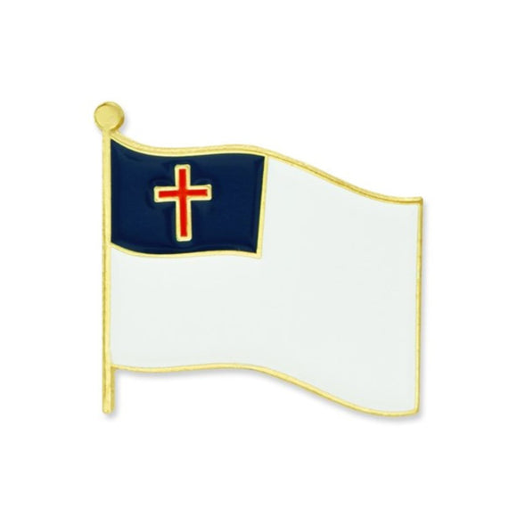 Christian Flag Lapel Pin (Gold Plated)