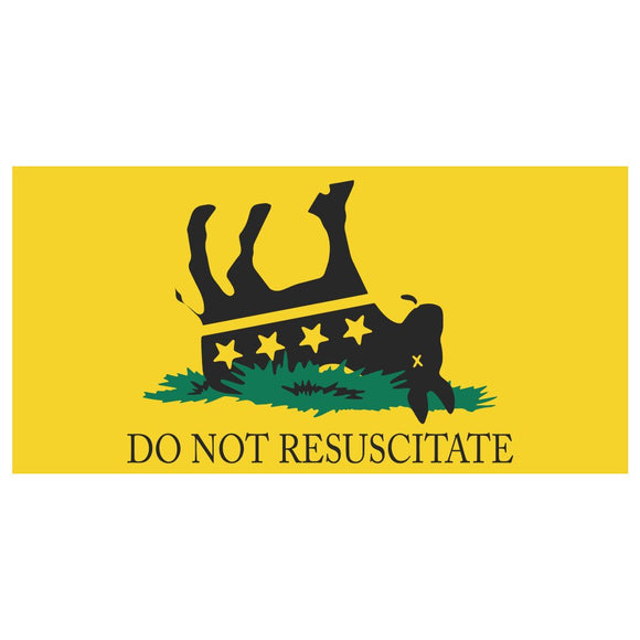 Do Not Resuscitate Weatherproof Bumper Sticker