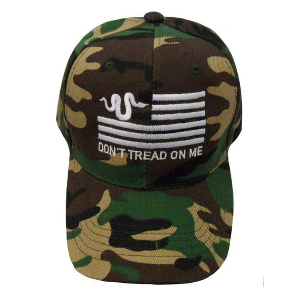 Don't Tread On Me MCF Custom Embroidered Green Camo Hat