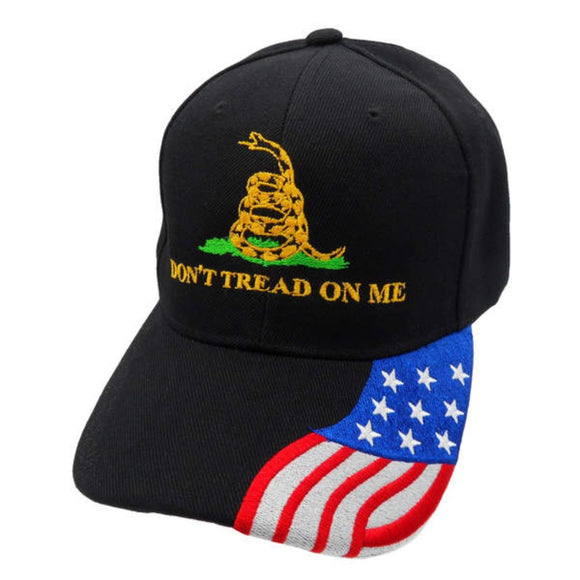 Don't Tread On Me with Custom Embroidered Flag Bill Hat