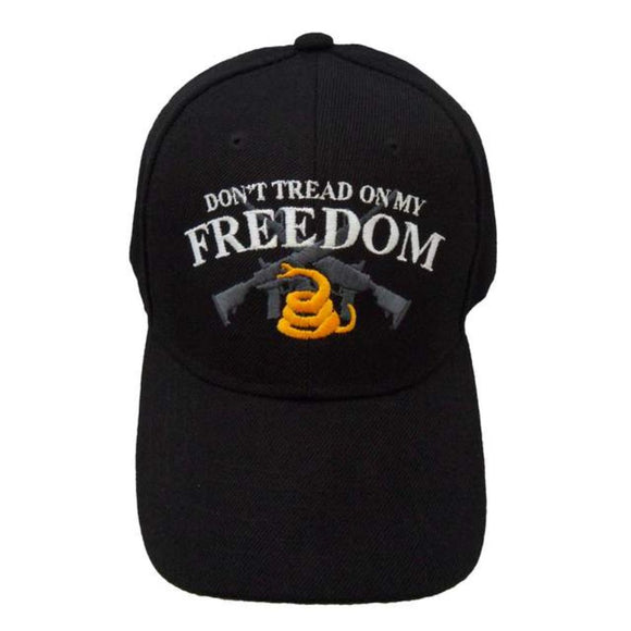 Don't Tread on My Freedom Custom Embroidered Black Hat