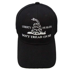Don't Tread on Me Liberty or Death Custom Embroidered Hat