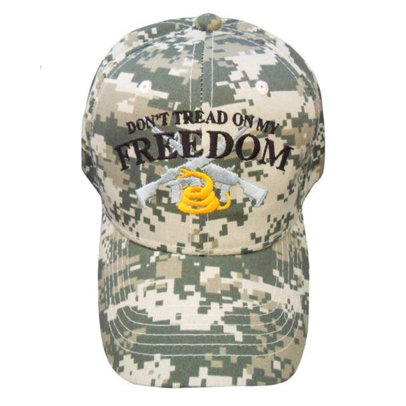 Don't Tread on My Freedom Cap Custom Embroidered Digital Camo Hat