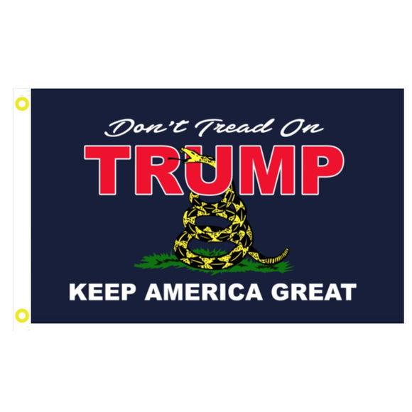 Gadsden Don't Tread on TRUMP Keep America Great 3'x5' 100D Rough Tex® Flag