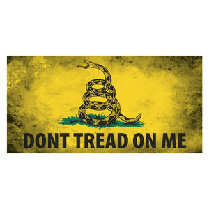 Distressed Don't Tread on Me Weatherproof Sticker