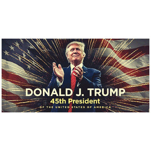 Donald J Trump 45th President Stars & Stripes Sticker