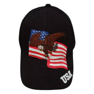 Eagle in Flight American Flag Custom Embroidered Hat