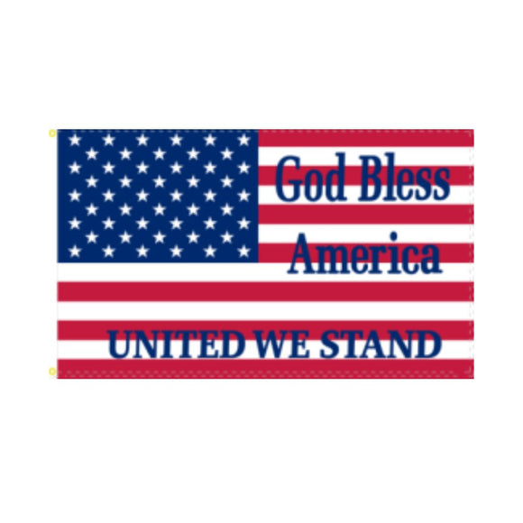 God Bless America United We Stand 3'x5' 100D Rough Tex® Flag