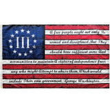 Betsy Ross III Percent Washington Arms Vintage Flag Rough Tex®