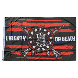 Gadsden Liberty Or Death III Percenter 3'X5' 100D Rough Tex® Flag