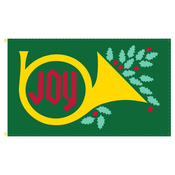 Joy (French Horn) Green 3'x5' 100D Rough Tex® Flag