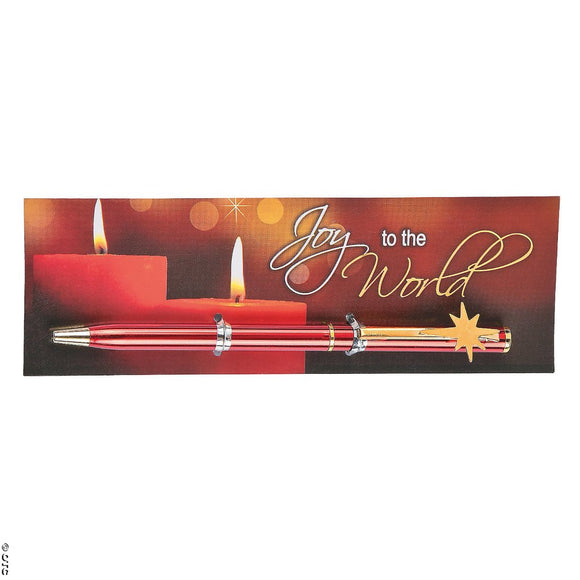 Joy to the World Pen with Bookmark