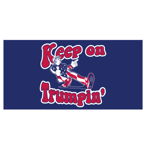 Keep On Trumpin' Bumper Sticker (Retro-Style)
