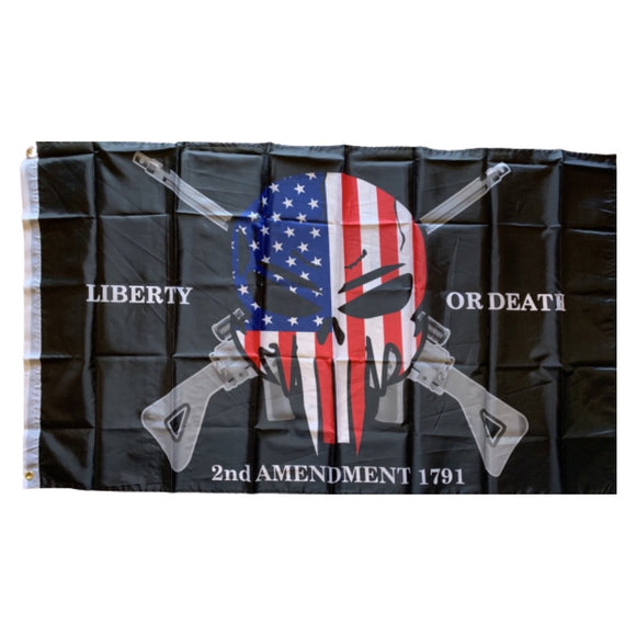 Liberty or Death 2nd Amendment 1791 3'X5'' Rough Tex®Flag