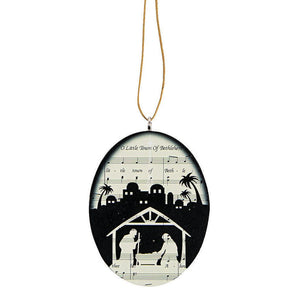 Little Town of Bethlehem Ornament (Sheet Music Backdrop)