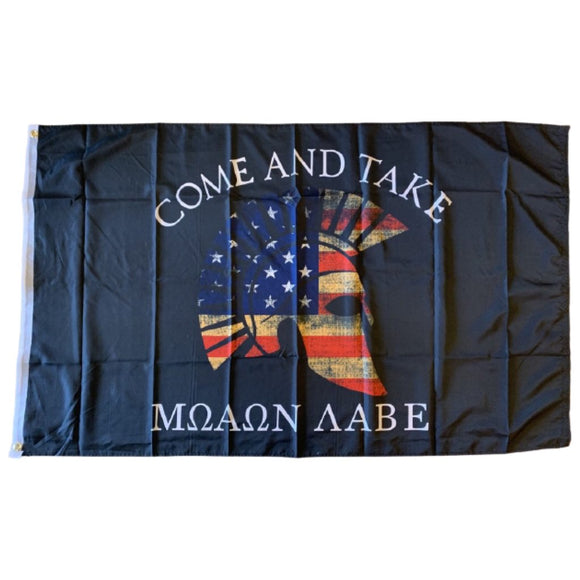 Trojan Crest USA Molon Labe 3'x5' 100D Rough Tex® Flag