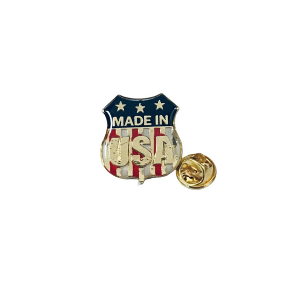 Made In USA Enamel Lapel Pin