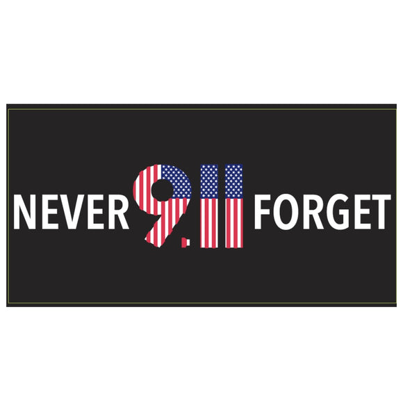 Never Forget 911 Weatherproof Bumper Sticker