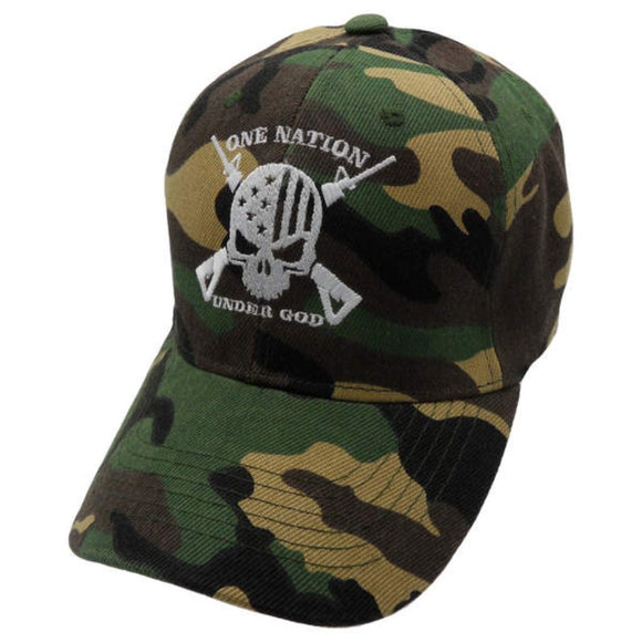 One Nation Under God Camo Custom Embroidered Hat