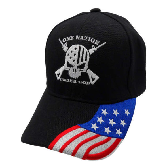 One Nation Under God Custom Embroidered Hat with Flag Bill