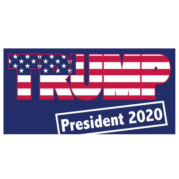 Trump President 2020 Patriotic Weatherproof Bumper Sticker