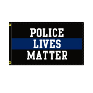 Police Lives Matter Black Trim 3'x5' 100D Rough Tex® Flag