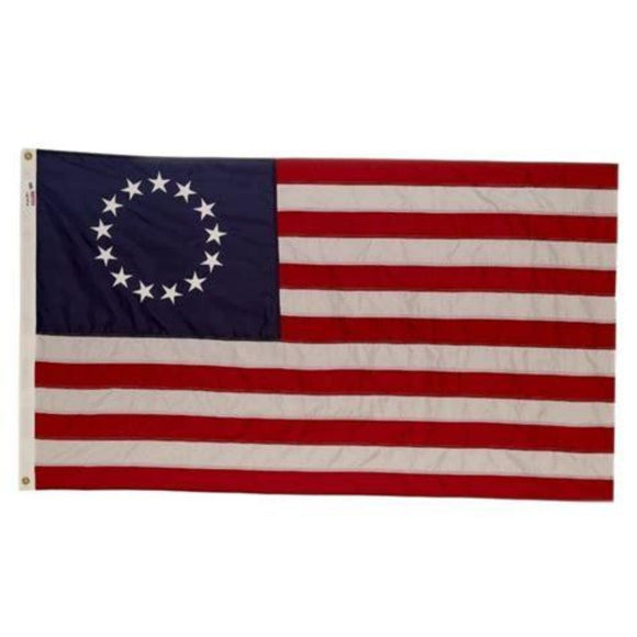 Betsy Ross 13 Stars Cotton Embroidered Flag In Gift Box