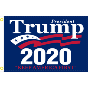 President Trump 2020 Keep America First 5'x 8' Big Beautiful 100D ROUGH TEX ® Flag