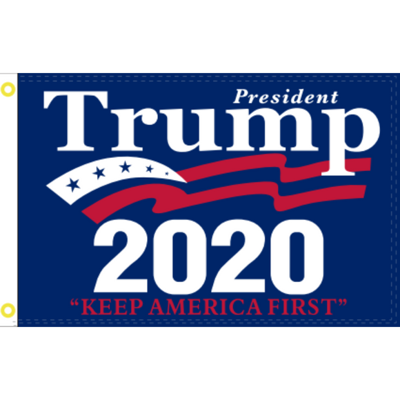 President Trump 2020 Keep America First 100D ROUGH TEX ® Flag