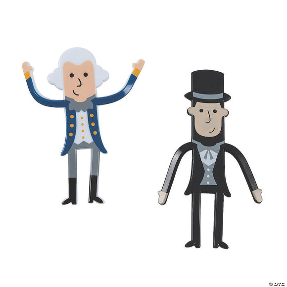 Presidential Bendables (Pair) Washington & Lincoln