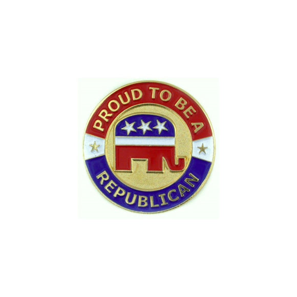 Proud to be a Republican Stamped Lapel Pin