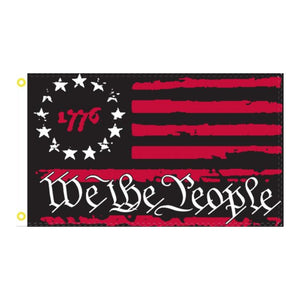Red & Black 1776 Betsy Ross We the People Rough Tex® Flag (3 Sizes)