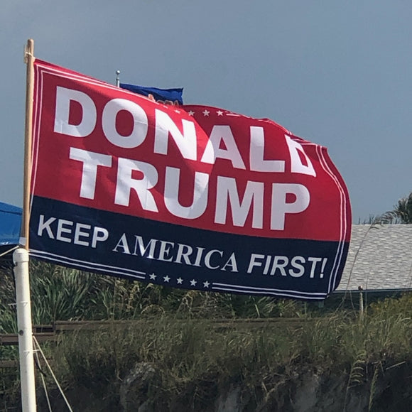 Donald Trump Keep America First 3'x5' 100D Rough Tex® Flag