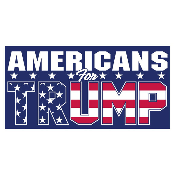 Patriotic Americans for Trump Sticker