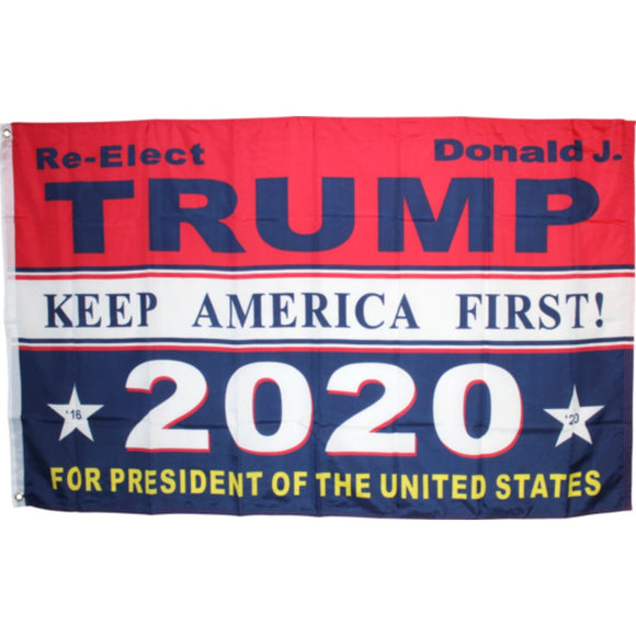 Re-Elect Trump 2020 for President of the United States: Keep America Great 3'X5' Rough Tex® 100D Flag