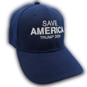Save America Trump 2024 Custom Embroidered Hat (Blue)