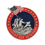Support Our Veterans 3D Die Struck Lapel Pin